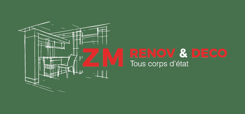 logo zm rénov et deco entreprise du batiment tout corps d'état renovation complète